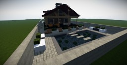 small modern wooden house