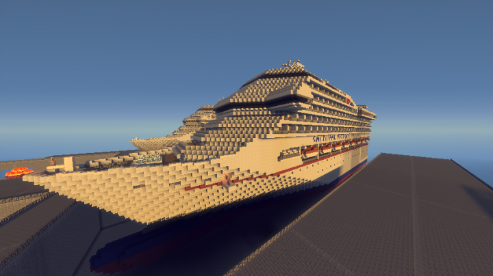 Carnival Victory Cruise Ship Scale EXTERIOR ONLY - Cruise ship victory