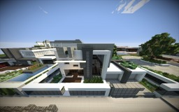 FoxRiver builds-ULTRA modern house Minecraft Map & Project