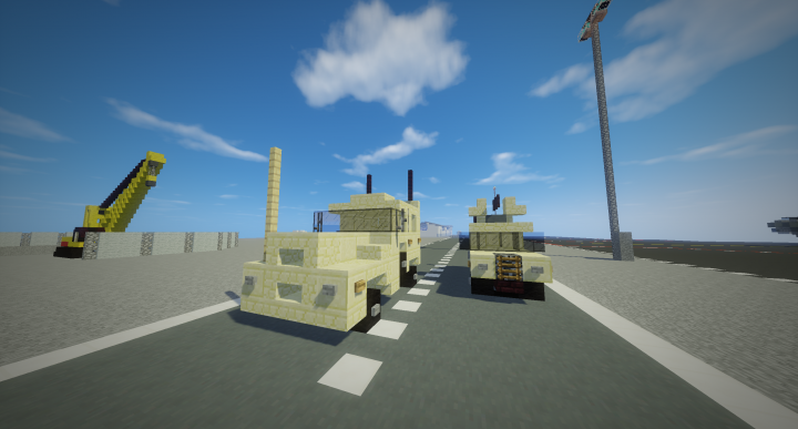 New Cougar next to the new Humvee, you can see it is definitely taller