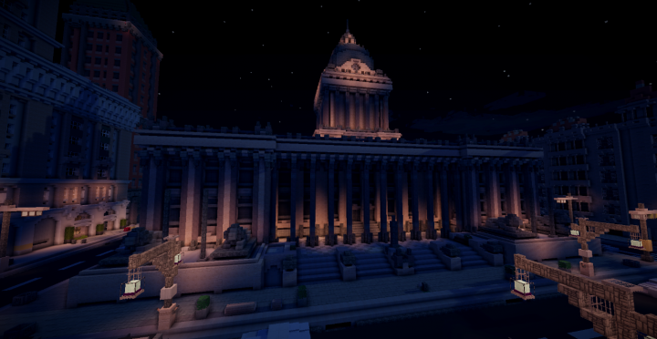 The Town Hall at night