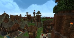 Medieval Village W.I.P Minecraft Map & Project