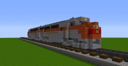 Western Pacific F3 A-A Unit - Diesel Locomotive | 0.5:1 Scale Minecraft