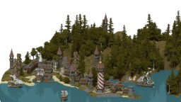 Medieval Town (Hi Kare) Minecraft Project