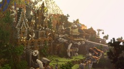 Skiphold a Steampunk city [ New: download] Minecraft