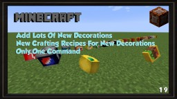 More Decoration Only One Command [1.9][15W49B] ~ thvardhan Minecraft Map & Project