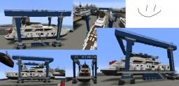 Yacht Lifting Mobile Crane Minecraft