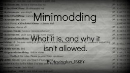 Minimodding - what it is and why it isn't allowed. Minecraft