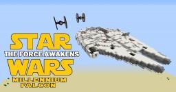Star Wars The Force Awakens Millennium Falcon Minecraft