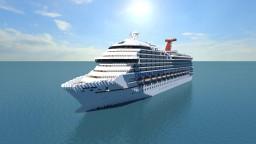 Carnival Triumph Cruise Ship [Full Interior] {1:1 Scale} Minecraft Map & Project