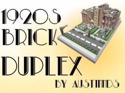 1920s Brick Duplex with Interior Minecraft Map & Project