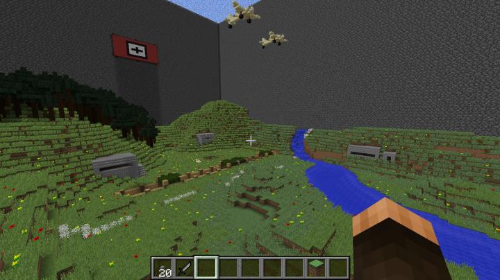 Big WW2 BattleField Map Minecraft Project