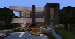 Modern orange house | Alaska Minecraft Map & Project