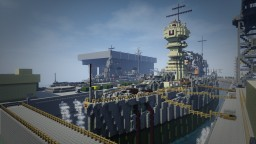 Naval port model in minecraft