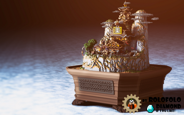 Oriental Fantasy diorama - Splekh render
