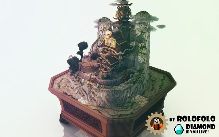 Oriental Fantasy diorama - Rajkkor render