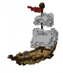 Pirate Ship (Solo build) [Small Scale] Minecraft Project