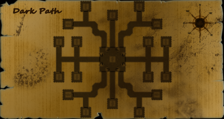 A legacy looking map of the Dark Path.