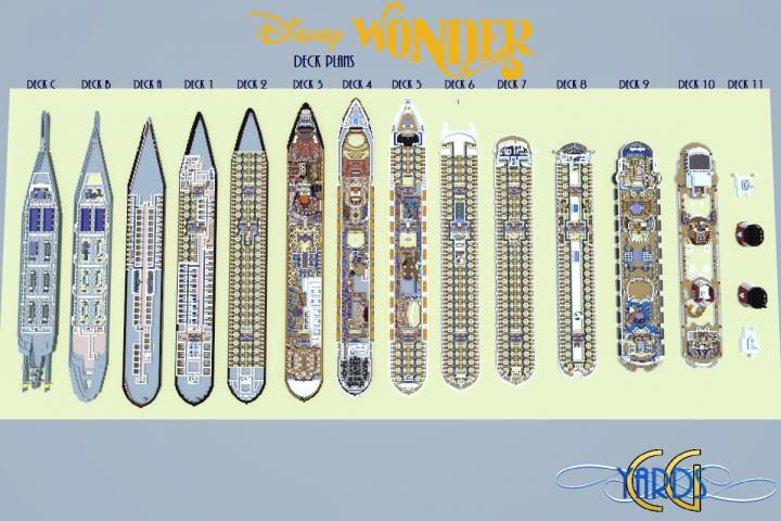 Disney Wonder Deck Plans