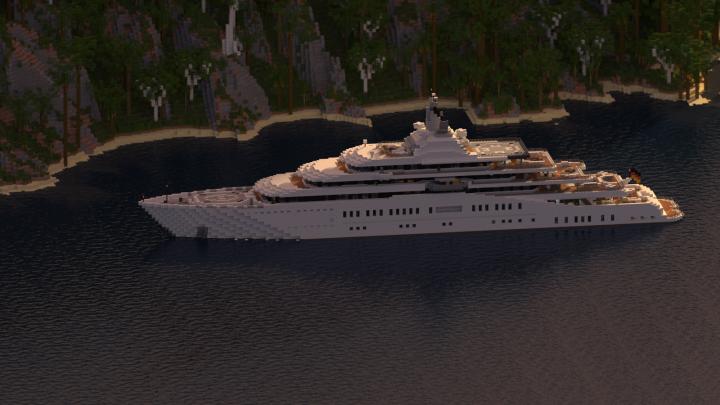 Eclipse - Megayacht Full Interior [1:1 Scale] Minecraft Map