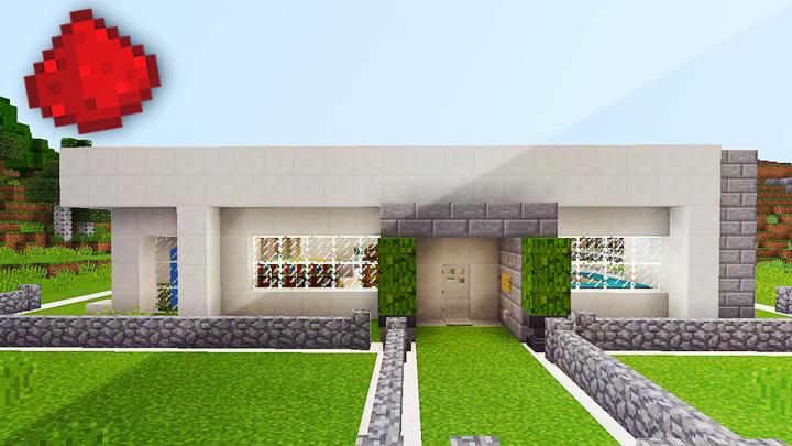 Modern redstone house in mcpe minecraft blog for Minecraft modernes redstone haus