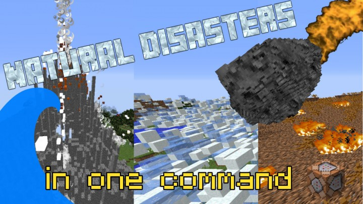 Minecraft Natural Disasters One Command