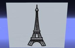 Eiffel Tower  Pixel Art Minecraft Map & Project