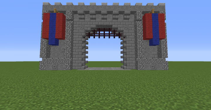 how to build castle gate minecraft