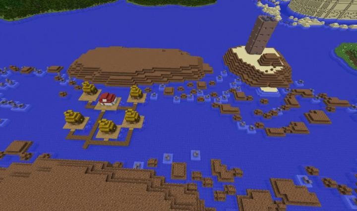 Sky Pillar and Pacifidlog Town
