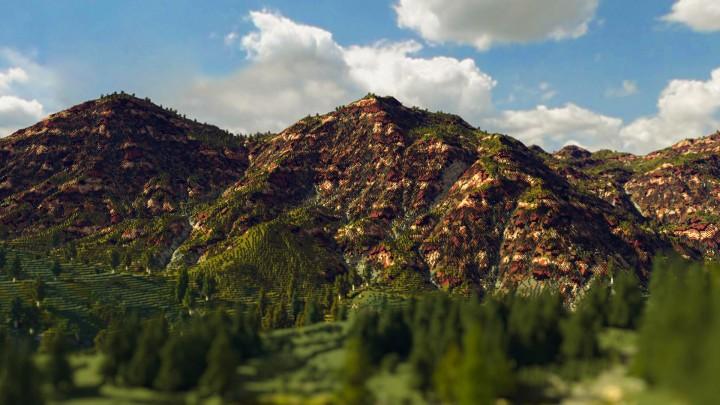 Maccheroni Western - Custom Terrain - 4K x 4K Minecraft Project