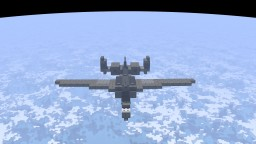A-10 Thunderbolt II | Advanced Warfare Variant | 1:1 Scale Minecraft Map & Project