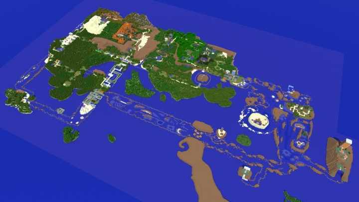 Pok 233 Mon Hoenn Region 2 1 Scale Minecraft Project