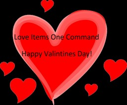 Love Items One Command - Valentines Day Command Minecraft Project