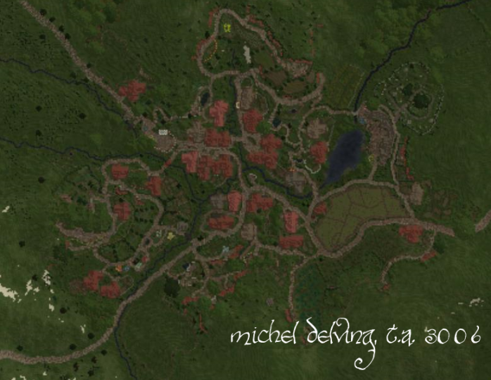 A full overview of the completed town