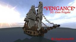 "32-gun Frigate ""Vengeance"" Minecraft"