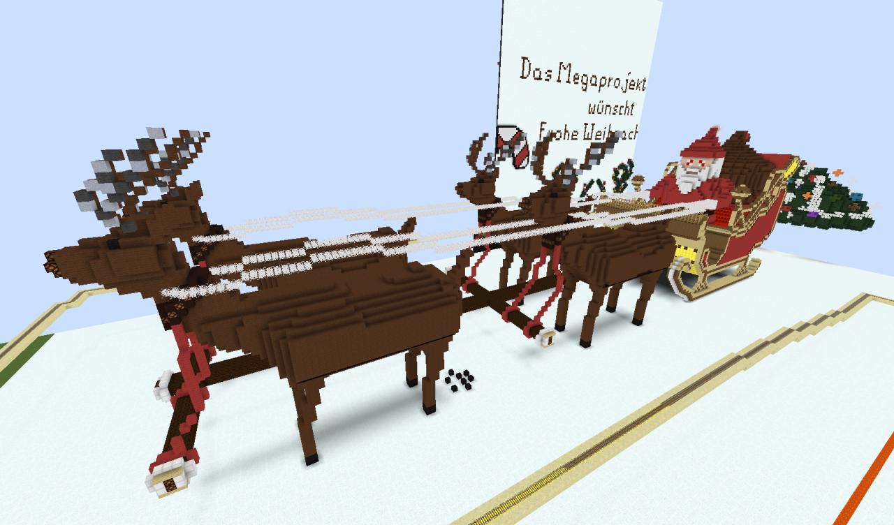 Weihnachtsschlitten Minecraft Project