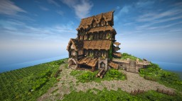Medieval House - Skyrim Inspiration (Timelapse + Download) Minecraft