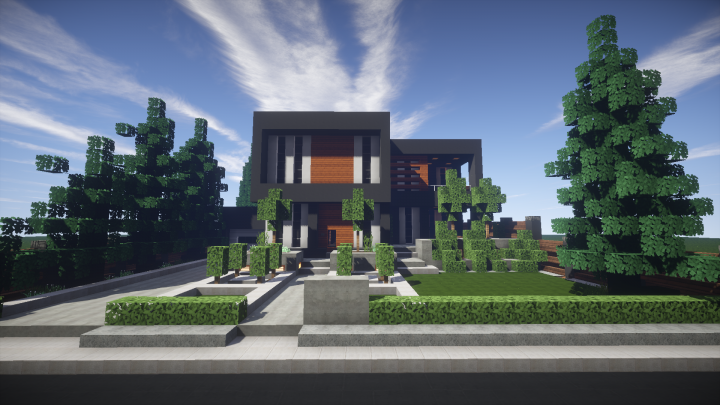 . New Modern House  Furnished   Schematic Available  Minecraft Project