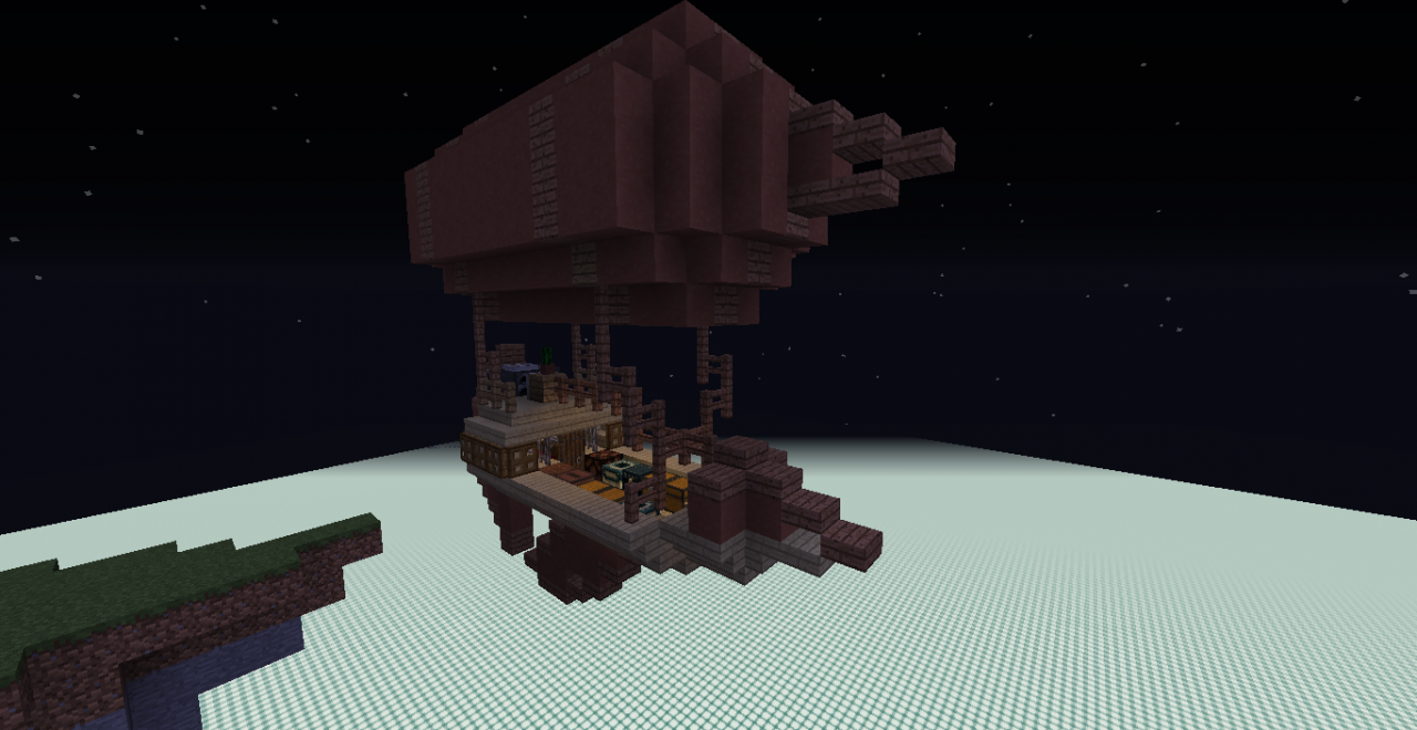 Airship Schematic Minecraft Project