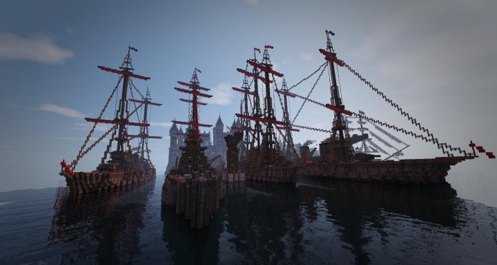 Steampunk based boats of KingWars Dubrovnik