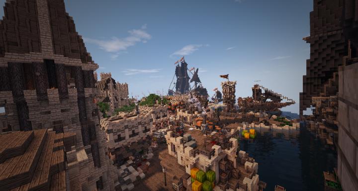 The city Albago in KingWars Morgeron