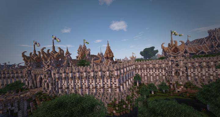 The city Elfengarde of KingWars Era