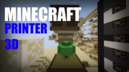 Minecraft: Redstone 3D Printer Minecraft Map & Project