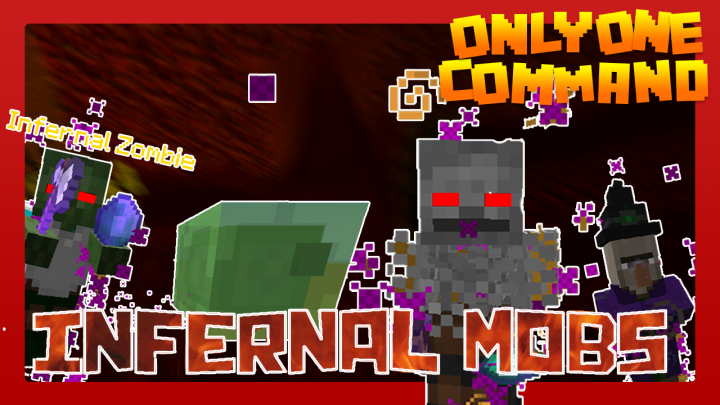 INFERNAL MOBS with only one command block Minecraft Project