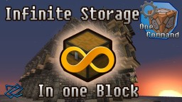 [One Command] Infinite Storage in one Block! [1.9] Minecraft Map & Project