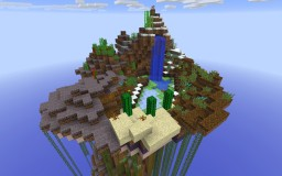 Midnight Floating Island with Monument Minecraft Map & Project