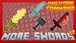 MORE SWORDS with only one command block [v2 | with custom textures]