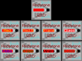 Redstone Utility Packs Icons. Mix and match only the parts you want!