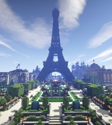 XIXth Century City Map Minecraft Project