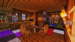 Timelapse | Forest Lodge Interior Minecraft Map & Project